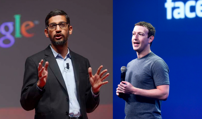 Mark Zuckerberg, Sundar Pichai