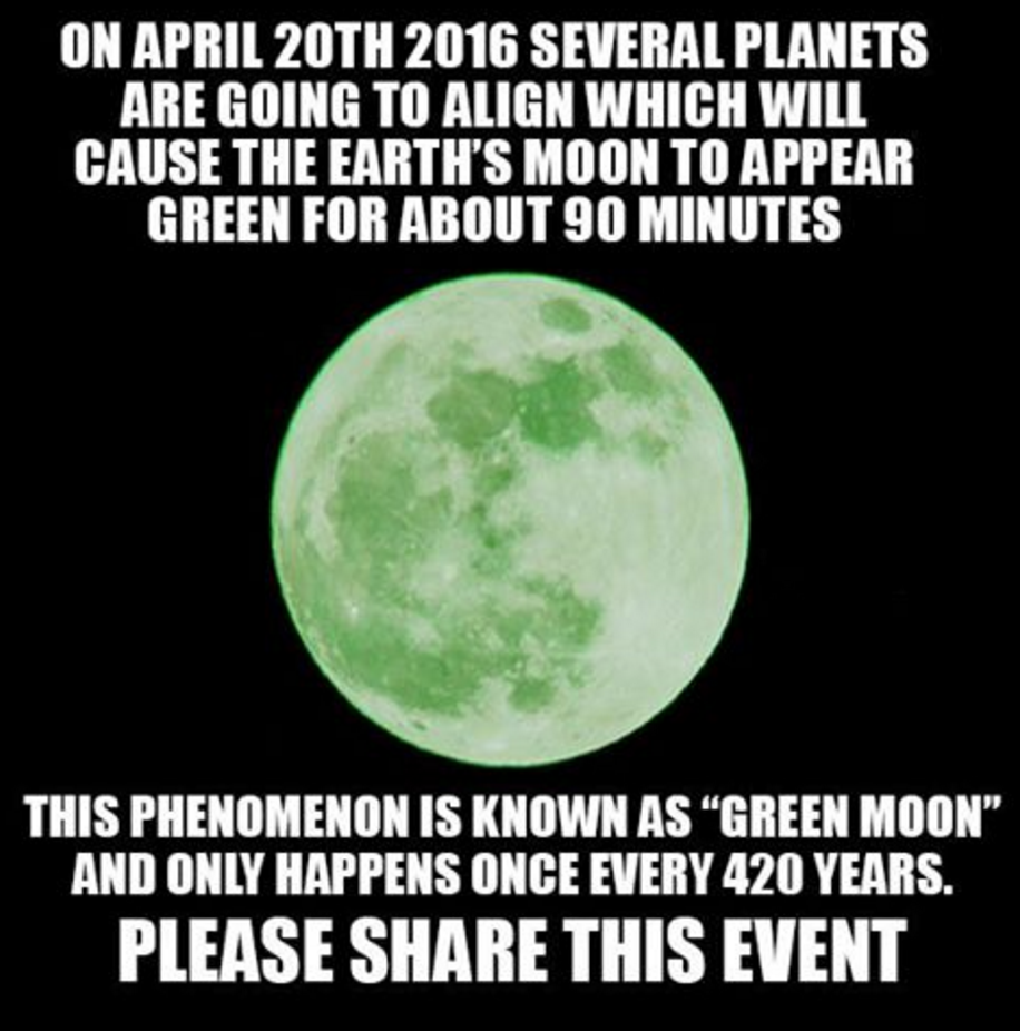 moon turn green april