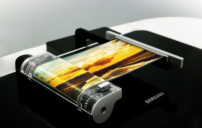 samsung rollable OLED display