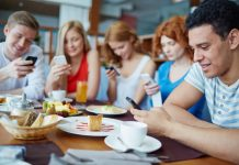 Millennials unplugging devices on a vacation