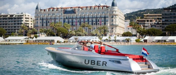 Uberboat with single tap on app