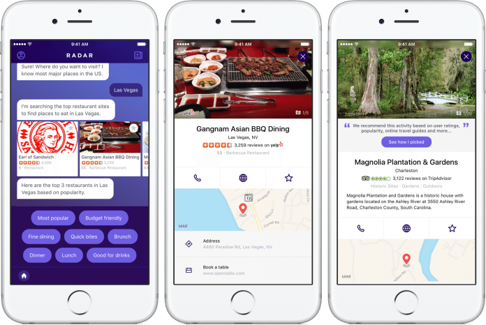 Yahoos' Conversational Travel Planner Mobile App
