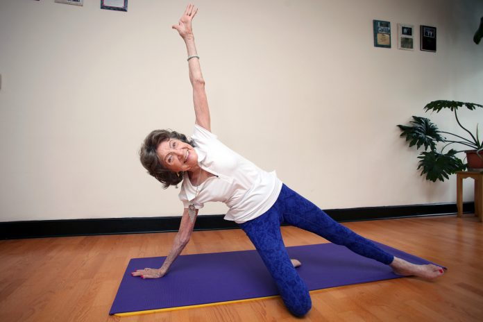 97 years old yoga teacher