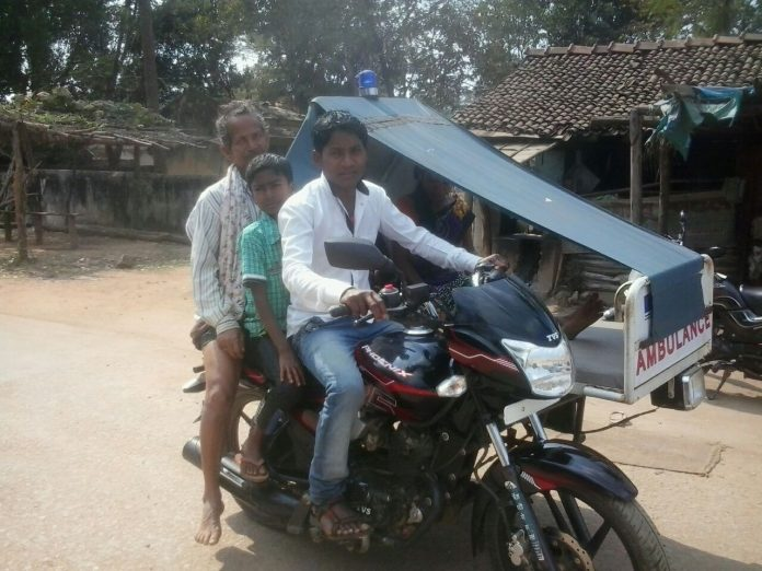 Motorcycle-Ambulance Now in Chhattisgarh Forests Saves Lives of Villagers