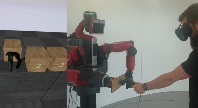 VR users can experience Physical Impression with the $25,000 Baxter Robot