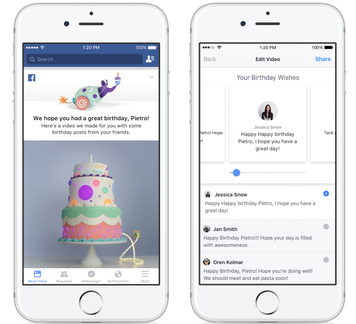 Facebook Now Makes Your Birthday Special with New Video Recap