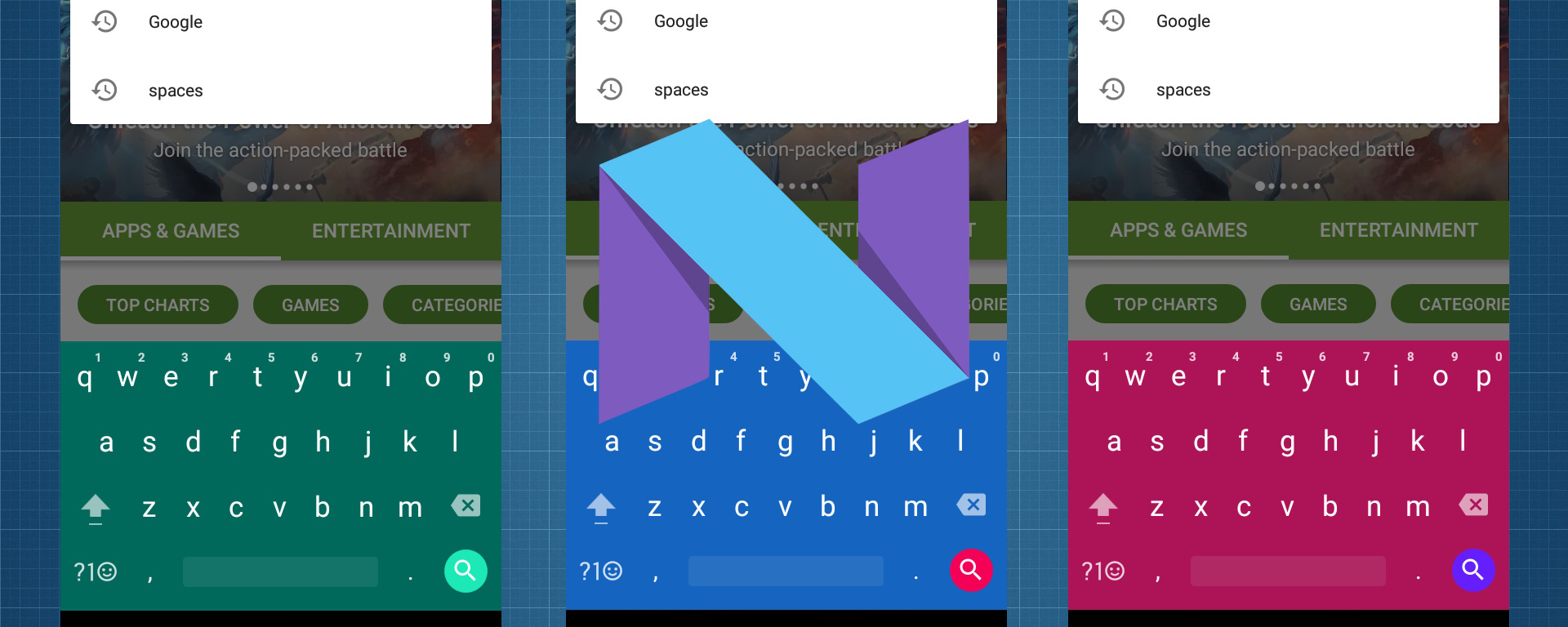 Google theme keyboard
