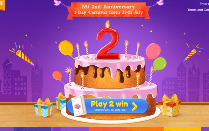 Xiaomi Anniversary Sale offers Mobile Phones for Just Re 1