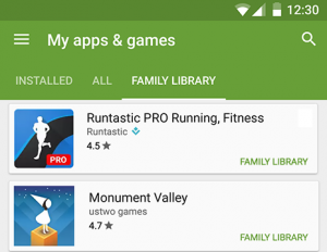 Google Launched Play Family Library to Share Play Apps and Media