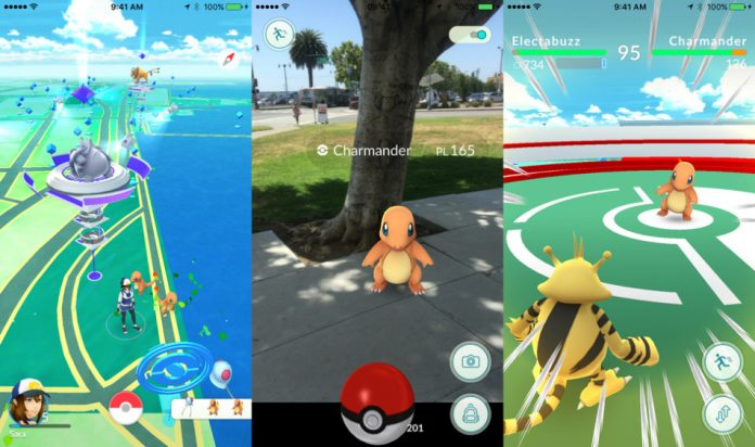 pokemon go game play in iOS and Android