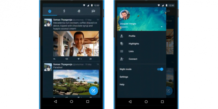 Twitter Now Releases Night Mode Feature For Android App