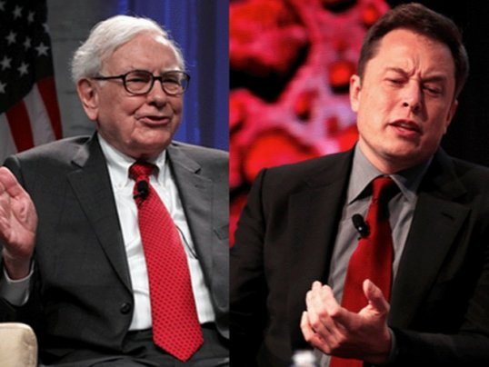 Warren Buffett, Elon Musk head-to-head competitors