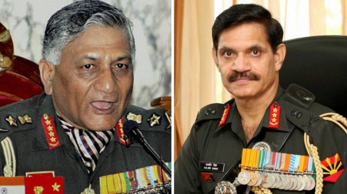 Gen Dalbir Singh Suhag alleges General V K Singh of victimisation: files affidavit