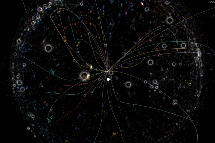 Wikiverse Turns Wikipedia into a Visual Universe