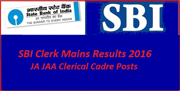 sbi clerk mains results 2016
