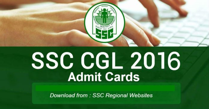 ssc cgl tier I 2016 admit card