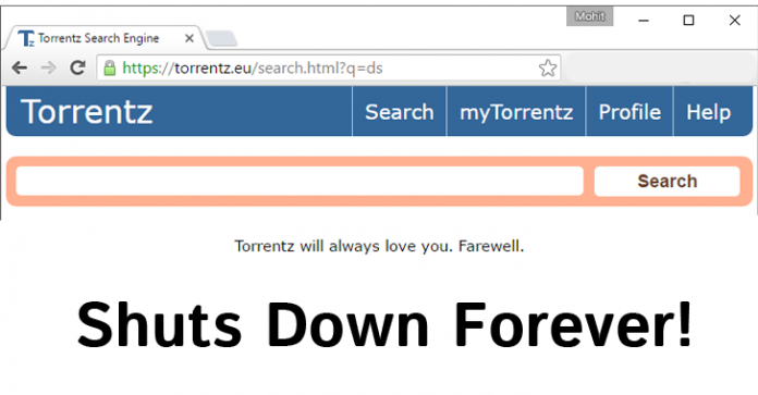 Popular search engine Torrentz.eu shut down mysteriously