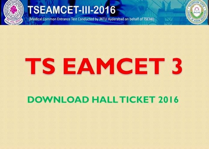 ts eamcet 3 hall tickets