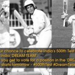 India Reaches 500th Test Matches Mark