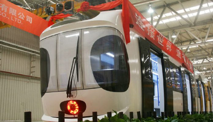 China Rolls Out its First Sky Train Technology on Sunday
