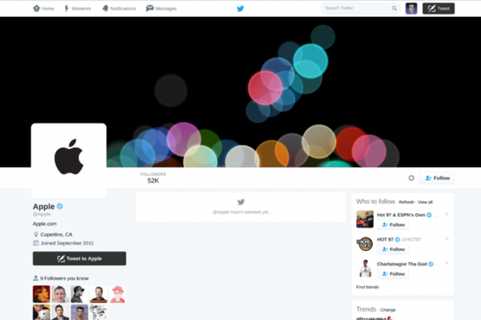 Apple re-activated its official twitter account on Friday