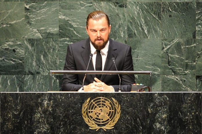 leonardo dicaprio unveils Global fishing Watch Technology