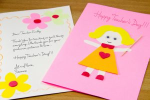 Teachers' day greeting cards