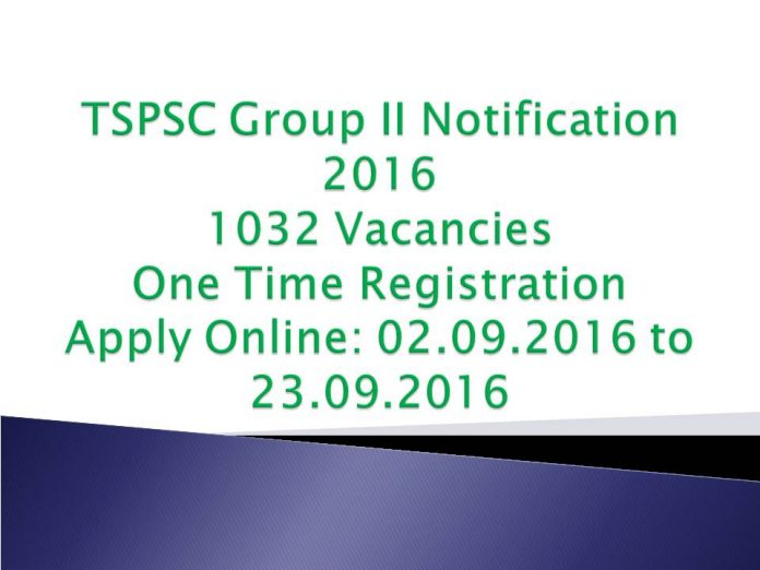 TSPSC Group II Notification 2016