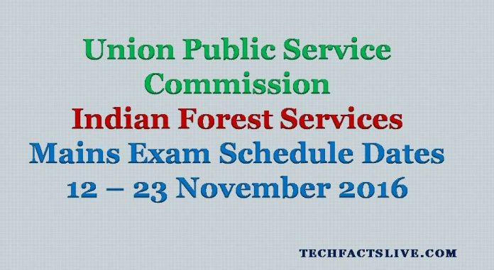UPSC IFS Mains Exam Dates 2016