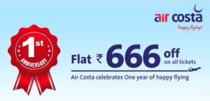 Air costa offers 666 off