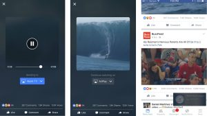 Facebook Videos streaming on TV