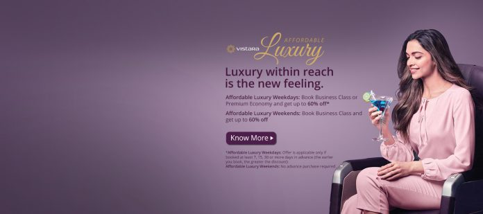 Vistara Launches Ticket Discount