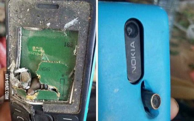 Nokia Phone saves the life of a Man like a Bullet Proof