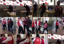 iPhones smashed video going viral