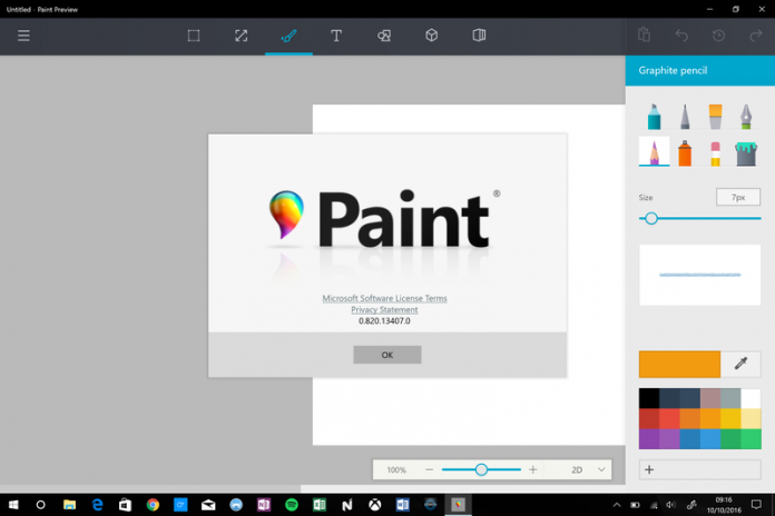 Microsoft's Redesigned Paint Application