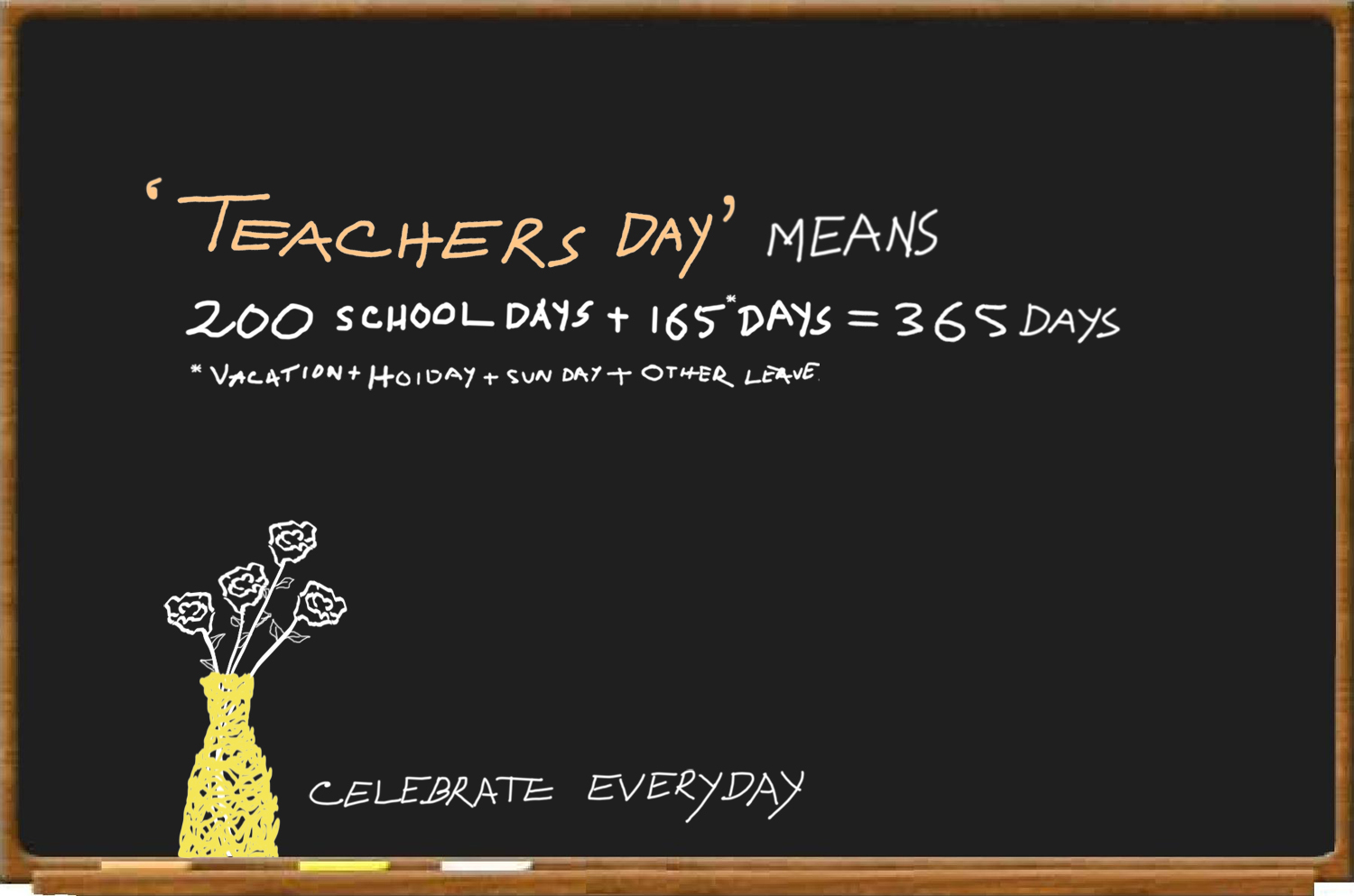 an essay about teachers day