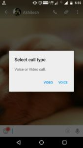 hike video call feature