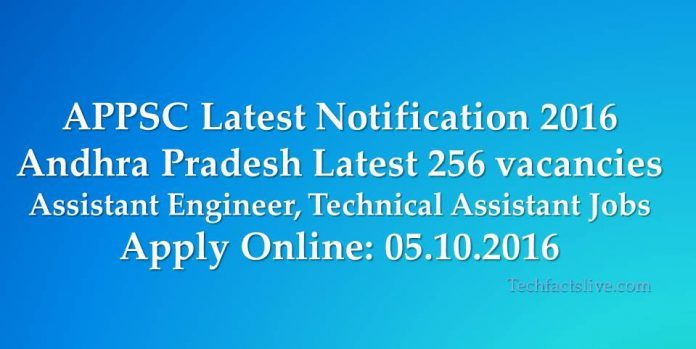 appsc latest notification 2016