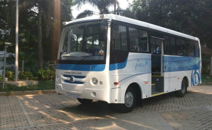 Ashok Leyland Unveils New Electric Bus