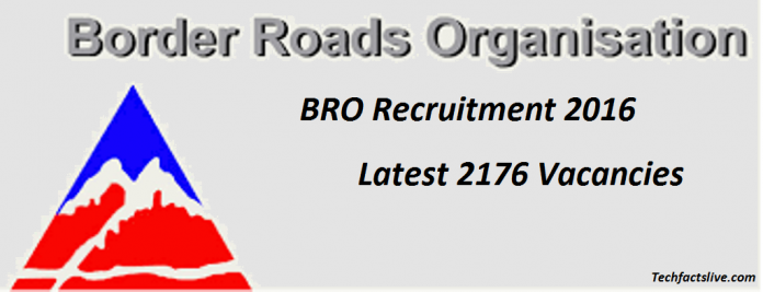BRO Recruitment 2016