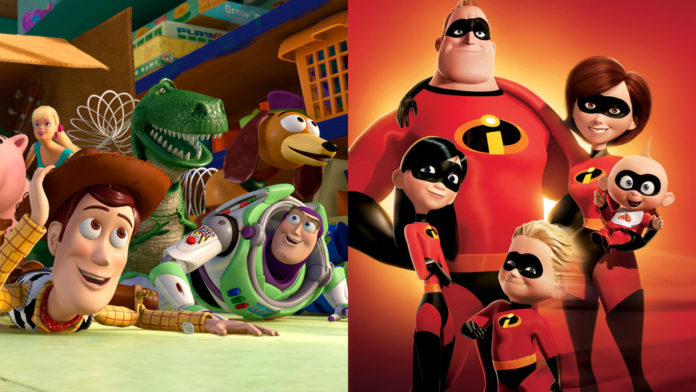 The Incredibles 2 and Toy story 4