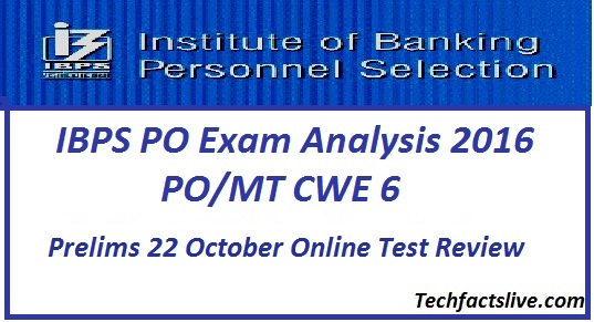 IBPS PO Prelims Analysis 2016