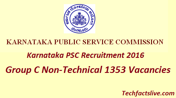 kpsc recruitment 2016