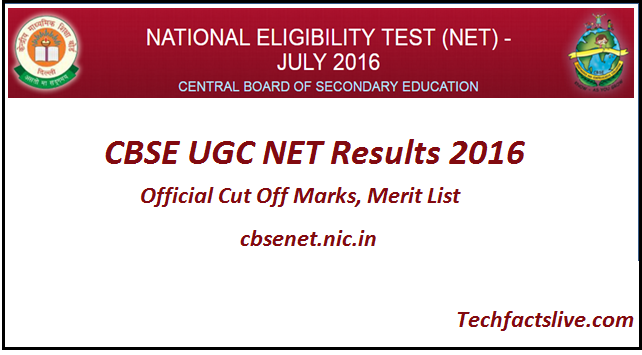 cbse ugc net results 2016