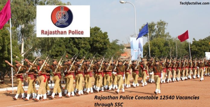 Rajasthan Police Recruitment 2016