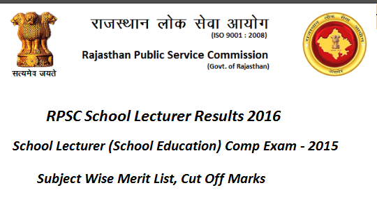 RPSc School lecturer Results 2016