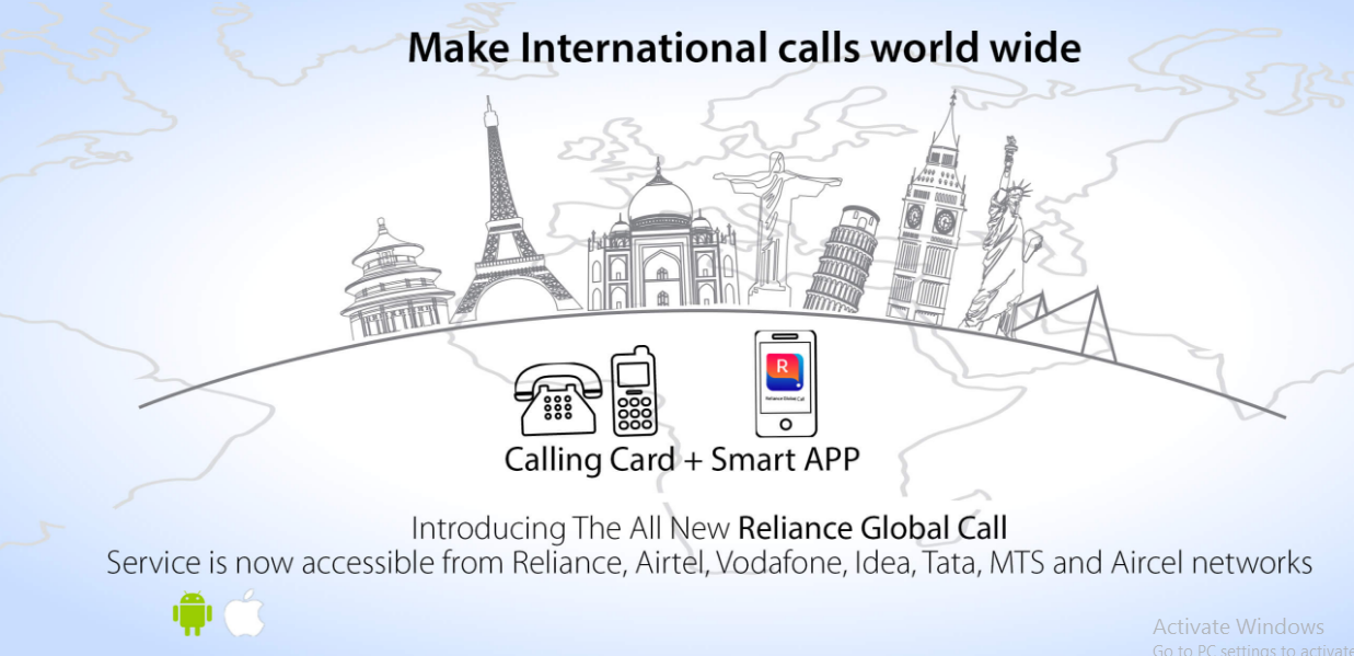 Reliance Global Call Unveils International Calling App