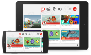 YouTube Kids on your big screen using Chromecast, Smart TV, Apple TV and game consoles.