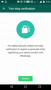 Whatsapp two step verification process