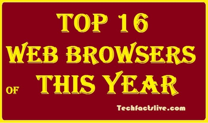 Top 16 Web Browsers of This Year